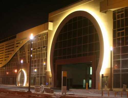 Gebäudeillumination in Qatar